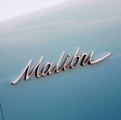 Malibu Typography . Type Porn . Vintage Lettering . Car .