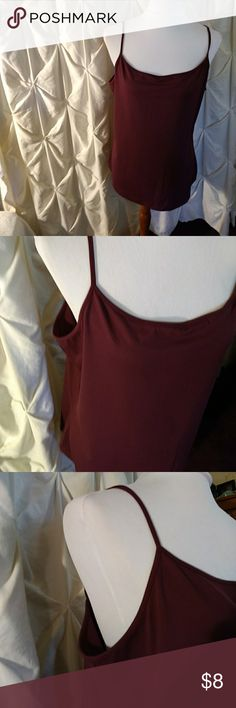 "Apostroph Stretchy, beautiful burgandy in color. Square front & back.  91%nylon, 9% spandex.  Length is 20 1/2"" Apostrophe Tops Camisoles"