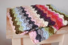 Catherine's Wheel Stitch Blanket
