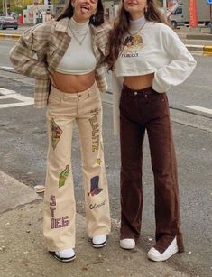 Teen Fashion Outfits, Retro Outfits, Cute Casual Outfits, Look Fashion, Vintage Outfits, Summer Outfits, Look Girl, Brown Outfit, Neue Outfits