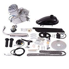 Goplus 80cc 2-Stroke Bicycle Gasoline Motorized Gas Engine Motor Kit (Silver) #Goplus #Stroke #Bicycle #Gasoline #Motorized #Engine #Motor #(Silver)