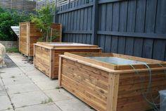Wood-covered IBC tanks for aquaponics