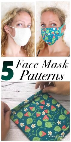 5 Easy Face Mask Tutorials - Crafting on the Fly - Diy and crafts interests Face Masks For Kids, Easy Face Masks, Diy Face Mask, Easy Homemade Face Masks, Halloween Face Mask, Best Face Mask, Halloween Skull, Craft Tutorials, Sewing Tutorials