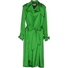 Emilio Pucci Overcoat (130.755 RUB) ❤ liked on Polyvore featuring outerwear, coats, green, trench coats, emilio pucci coat, long sleeve coat, green coat and lapel coat