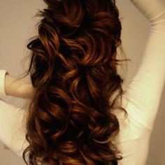 caramel and redish brown curls