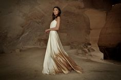 Gold ombre wedding dress by Limor Rosen #goldweddingdress #ombre