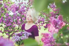 Beautiful portraits in lilac