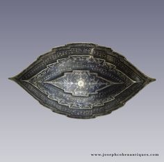ANTIQUE SILVER NIELLO BELT BUCKLE (PINDING), MALAY – 19TH CENTURY