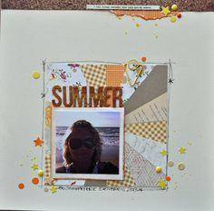 sunburst technique by @Didde Hattesen  scrapbooking layout