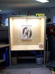 built a spray booth yesterday... $15.00 - Powder Coating Forum   Powder Buy the Pound