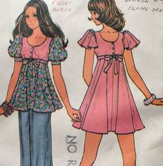 Hey, I found this really awesome Etsy listing at http://www.etsy.com/listing/163338734/misses-dress-and-top-vintage-pattern