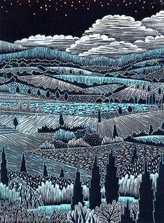Italian Landscape II – Daryl V. Storrs Artworks
