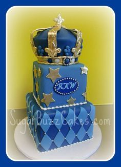 Prince Themed Baby Shower Cake By Sugar Buzz Cakes By Carol, Via Flickr