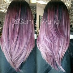 #mulpix STYLIST SPOTLIGHT: who else is loving this dusty violet? | styled by @sammiiwang with @fanola_usa  #hair  #hairinspiration  #hairstylist  #cosmetologist  #colorist  #purplehair  #violethair  #ombre  #pastelhair  #modernsalon  #americansalon  #thecutlife  #curlbox  #styleseat  #voiceofhair  #style  #beauty  #inspo  #instalove