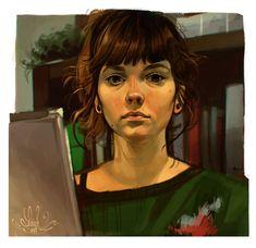 a new self portrait, embracing my resting bitchface through ~art~.
