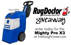 Enter to win the Rug Doctor Mighty Pro X3 at livelaughrowe.com #giveaway #rugdoctor