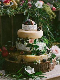 Non Traditional Cheese Wheel Wedding Cakes