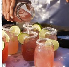 pomegranate margaritas in mason jars #masonjars #drinks