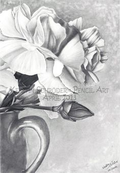 White Petals  Graphite on Canson Bristol  Din A4