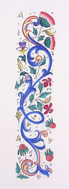 Words in Light - Medieval Calligraphy and Illumination - Pau - Lorene Kiraly Medieval Books, Medieval Manuscript, Medieval Art, Renaissance Art, Illuminated Letters, Illuminated Manuscript, Calligraphy Drawing, Calligraphy Fonts, Illumination Art