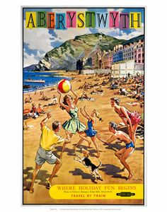 Travel Ads (Vintage Art) Posters, Prints, Paintings & Wall Art for Sale Beach Posters, Cool Posters, Art Posters, National Railway Museum, Aberystwyth, Travel Ads, Railway Posters, Poster Prints, Art Prints