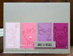 """Gefällt 6 Mal, 1 Kommentare - Amanda Farlinger (@whereistamp) auf Instagram: """"This Little Piggy stamp set is adorable and so is this card! Details all about it on my blog.…"""""""