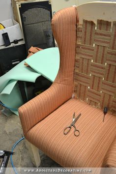 DIY Wingback Dining Chair - How To Upholster The Frame (Part 1)