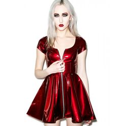 Lip Service Sumthin' Sexy Classic Vinyl Dress. Comes in red and black vinyl and black leather