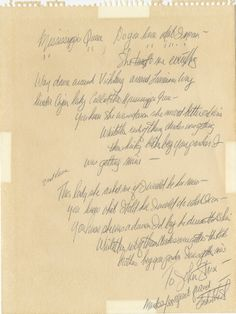 "Leslie West of Mountain handwritten signed lyrics for ""Mississippi Queen"".   Rock 'n' Roll Auction, Lot 180 / December 18th, 2013  https://www.profilesinhistory.com/auctions/rock-roll-auction-59-2/"