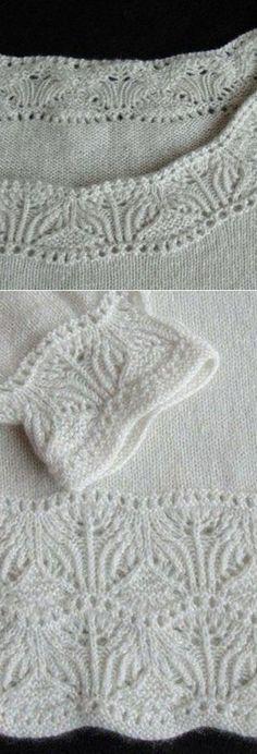 Вязание: нежная кайма для оформления низа изделия