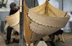 The small boat from Gokstad - Vikingeskibsmuseet Roskilde