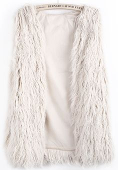Oyster Faux Fur Long Vest
