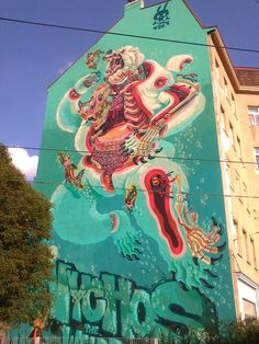 Vienna, street art by Nychos