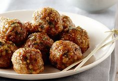#Boulettes de #veau et #quinoa I Love Food, Good Food, Yummy Food, Healthy Snacks, Healthy Eating, Healthy Recipes, Confort Food, Appetizer Sandwiches, Tasty Meatballs