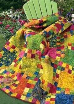 No pattern or instructions, but great color combo and looks easy.