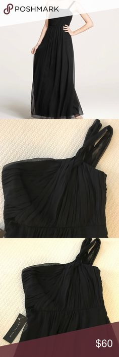 Ann Taylor One Shoulder Silk Georgette Dress Simply beautiful black silk one shoulder gown. Side zipper with boning in bodice. Fully lined. NEW WITH TAGS Ann Taylor Dresses Maxi