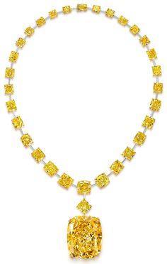 Graff's Golden Empress, a 133-carat yellow diamond.