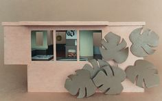 If It's Hip, It's Here (Archives): Bauhaus Mini-modernist Doll Houses Promote Karen Walker Paints For Resene