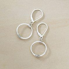 stitch earrings / so dainty, they are perfect for when you want to add just a little something to a simple outfit