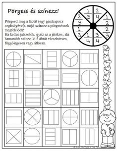 Fun math fractions worksheet with art. Spin and Color a Fraction! What a fun way to learn and practice fractions! Maths Guidés, Teaching Fractions, Fractions Worksheets, Math Fractions, Math Classroom, Fun Math, Teaching Math, Math Activities, Equivalent Fractions
