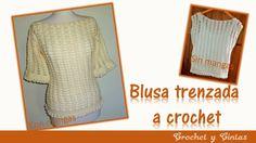 Blusa crochet trenzada para verano