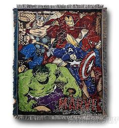 Marvel Heroes Comic Action Rug