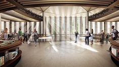 Image 3 of 4 from gallery of Foster + Partners' New York Public Library Redesign in State of Limbo. Photograph by dbox, Courtesy of Foster + Partners Library Cafe, Library Plan, Central Library, Open Library, Norman Foster, Arcology, Library Pictures, Lending Library, Foster Partners