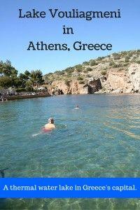 Lake Vouliagmeniin Athens, Greece