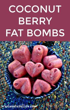 Coconut Oil Berry Fat Bombs~~~~~I used fresh blueberries. I like the flavor, but the consistency is still a little chunky. I used my immersion blender, but I'll try the food processor to see if it makes it smoother.~~~~~Rose