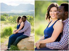 Boulder engagement photos at Davidson Mesa.  Colorado mountain engagement photos by Plum Pretty Photography.
