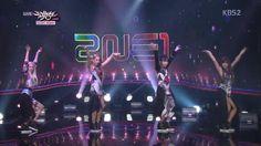 "2NE1 ""Do You Love Me?"" KBS Music Bank (08.16.13): Ground Zero F/W '13-'14"