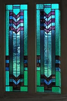 Stained Glass Deco door panels by John Hardisty by zelma