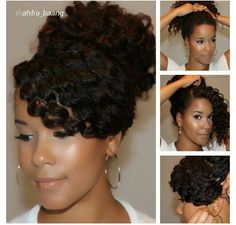 Quick and simple twist out style... Photo credit: @ahfro_baang