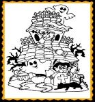 Haunted House Halloween Coloring Activity and Halloween Song for Kids!